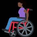 👩🏿🦽 Mulher Em Cadeira De Rodas Manual: Pele Escura; Twitter v12.0