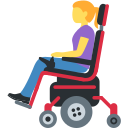 👩🦼 Mulher Em Cadeira De Rodas Motorizada; Twitter v12.0