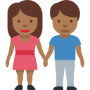 👫🏾 Woman And Man Holding Hands: Medium-dark Skin Tone; Twitter v12.0