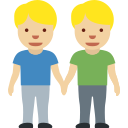 👬🏼 händchenhaltende Männer: mittelhelle Hautfarbe; Twitter v12.0