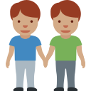 👬🏽 Men Holding Hands: Medium Skin Tone; Twitter v12.0