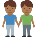 👬🏾 Men Holding Hands: Medium-dark Skin Tone; Twitter v12.0
