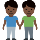 👬🏿 Men Holding Hands: Dark Skin Tone; Twitter v12.0