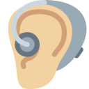 🦻🏼 Ear With Hearing Aid: Medium-light Skin Tone; Twitter v12.0