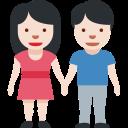 🧑🏻🤝🧑🏻 People Holding Hands: Light Skin Tone; Twitter v12.0