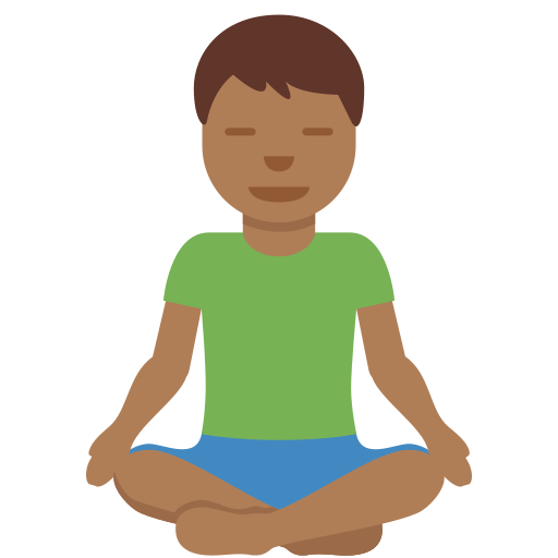 🧘🏾 ♂️ Man In Lotus Position: Medium-dark Skin Tone Emoji