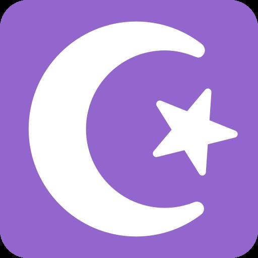 Media Luna Y Estrella Emoji