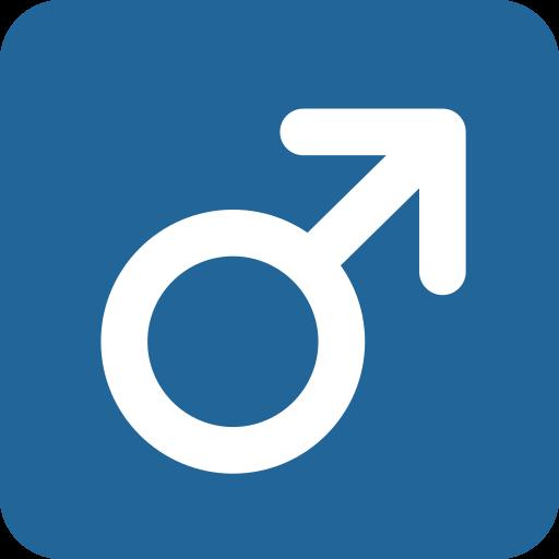 Nero sesso maschile simboli