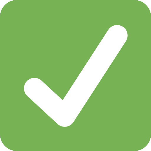Botón De Marca De Verificación Emoji