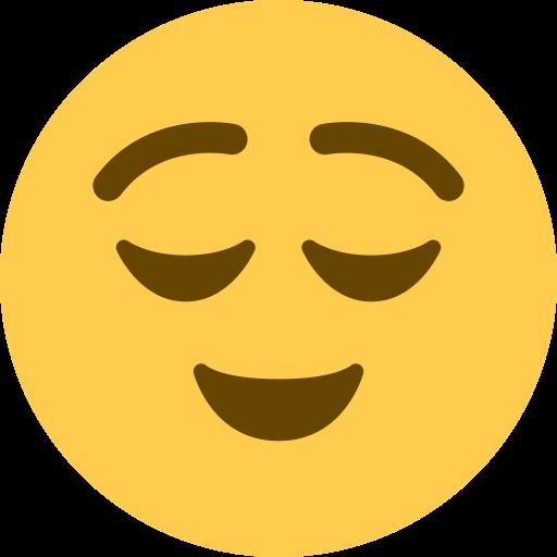 Visage Soulage Emoji