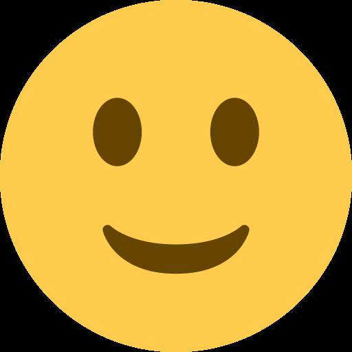 Visage Avec Un Leger Sourire Emoji
